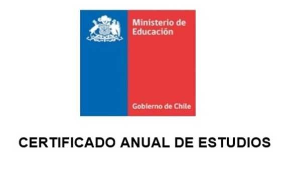certificado anual de estudios
