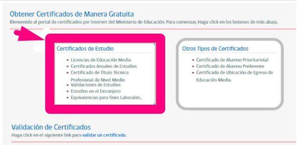 certificado de estudio actualizado mineduc