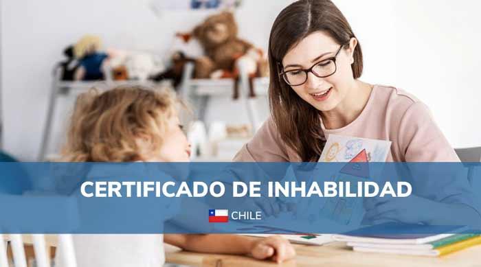 certificado de inhabilidad para trabajar con niños