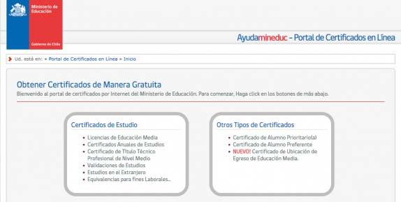 certificado notas mineduc