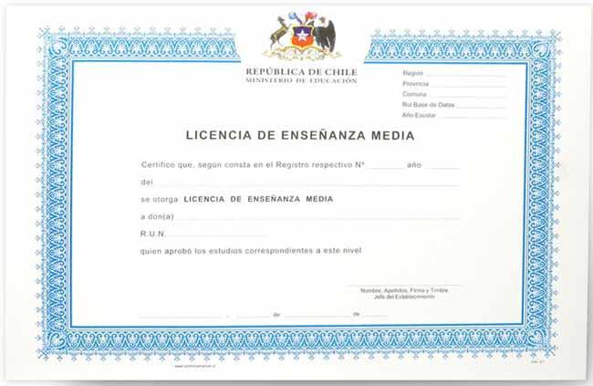 licencia de enseñanza media