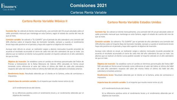 comisiones finamex