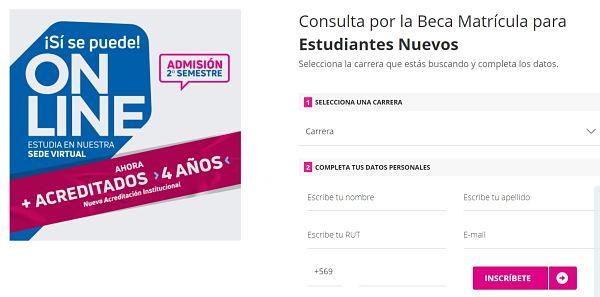 universidad de chile carreras online
