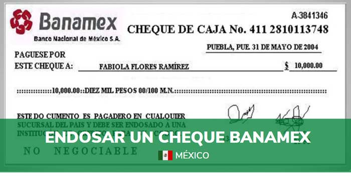 como endosar un cheque banamex
