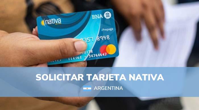 solicitar tarjeta nativa
