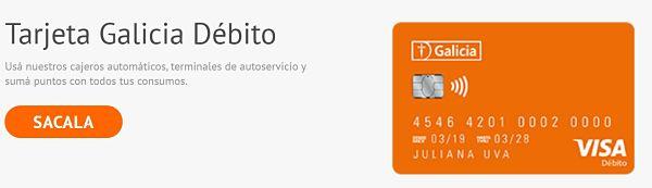 activar tarjeta débito Galicia