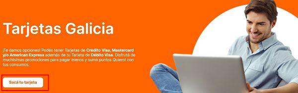 solicitar tarjeta de crédito Galicia